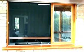 patio pull down shades door for screened screen garage image of dow