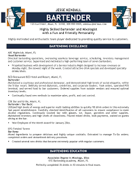 Server Bartender Resume Example Server Bartender Resume Server