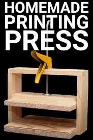 simple homemade printing press
