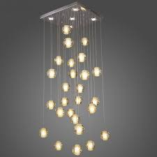 contemporary led crystal chandelier light fixture magic re loft stairwell 26 crystal light meteor shower cristal