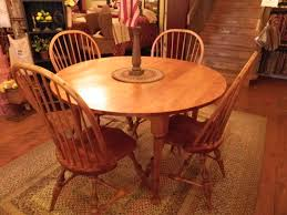 round maple kitchen table idea