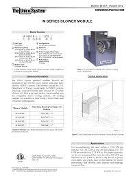 Cfm Per Ton Chart Blower Module The Unico System Manualzz Com