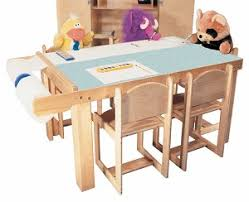 mainstream preschool art table available in 5 or 7 seats with paper dispenser and laminate top preschool art table r20 art