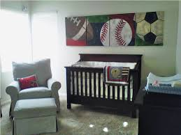 Green Wallpaper Baby Boy Sports Nursery Background Sports Theme Wooden  Furniture Minimalist Simple Contemporary