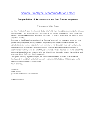 Best Solutions Of Letter Of Recommendation Template Employment