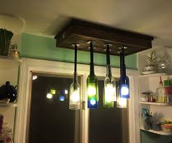 Wine Bottle Light Fixture Intro Wine Bottle Chandelier Light Fixture 4 Steps With Pictures