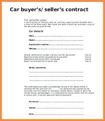 Car Sales Contract Selling Form Template – Stiropor Idea