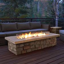 rectangle fiber concrete propane fire