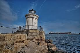Bud Light Lighthouse Budlight Portland Maine Lighthouse Hdr Photography By