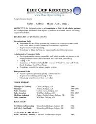 24 Receptionist Resume Objective Issue Marevinho