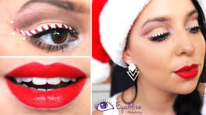 candy cane eyeliner makeup tutorial by eolizemakeup