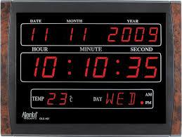 ajanta digital led wall clock olc 107