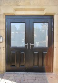 black double front doors. Stable Double Composite Doors Black Front