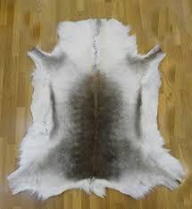 zerimar real reindeer deer hide area rug carpet size 55x51 in 100 natural perfect