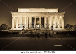 lincoln memorial at night black and white. abraham lincoln memorial national mall night sunset black and white beige vintage at t