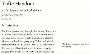 Chapter 6 Tufte Handouts R Markdown The Definitive Guide