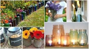 Decorative Colored Glass Bottles Adorable Ways To Turn Old Glass Bottles Jars Into Gorgeous Home 20