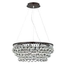 eurofase lighting canto oil rubbed bronze eight light chandelier with clear crystal shade