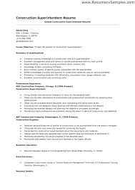 Construction Superintendent Resume Templates Inspiration Superintendent Resume Samples Construction Resume Examples Here Are