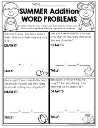 Kindergarten Math Word Problem Worksheets Kindergarten Math Addition ...
