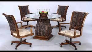 swivel dining chairs with casters. Full Size Of Chair:vintage Dining Chairs With Casters Casual Swivel U