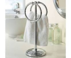 countertop towel stand. Image Is Loading Countertop-Towel-Stand-Shiny-Metal-Holder-Bathroom-Rings- Countertop Towel Stand T