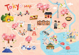 Animated Travel Map Tokyo Travel Map On Behance