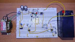 automatic 12v portable battery charger circuit using lm317 battery charger using 555