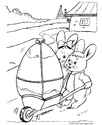 Easter Coloring Pages Bunnies And Large Egg