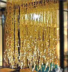 gold beaded curtain