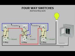 four way switches & how they work youtube 5 Way Switch Light Wiring Diagram Wiring Diagram for 5 Way Switch