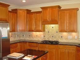 kitchen backsplash cherry cabinets black counter. Cream Black Tile Back Splash With Rhombus Shape Combined Light Brown Wooden Cabinet, Outstanding Kitchen Backsplash Cherry Cabinets Counter T