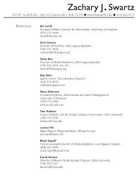 Sample Reference List For Job Resume Reference List Template Metabots Co