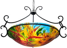 art glass chandeliers delivering reverse painted chandeliers to a fine art glass gallery in art glass