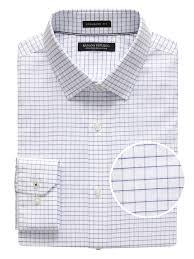Camden Standard Fit Non Iron Mini Grid Dress Shirt