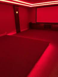 Led Lights For Theater Room Led Lights In Platform Basement Home Theater Room Home
