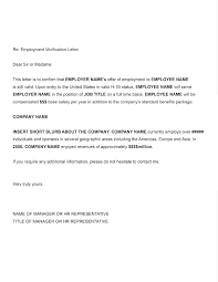 Letter Verification Of Employment Certificate Letter Template Free Sample Example Format Regarding In