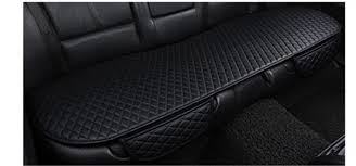great 2018 new pu leather universal car rear back seat cushion non slip seat cover pad 2017 2018