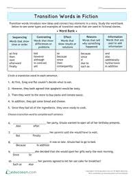 Transistion Words Transition Word Hunter Lesson Plan Education Com Lesson Plan