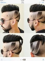 Classic Mens Haircut With Part An Faded Designs ทรงผม