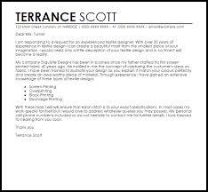 Textile Designer Cover Letter Sample