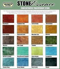 Brickform Acid Stain Color Chart Brick Stain Colors Kinderbijslag Co