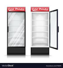 3d realistic refrigerator glass door Royalty Free Vector