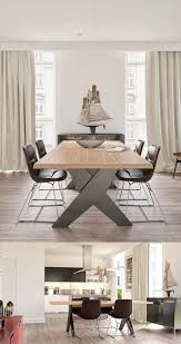 contemporary scandinavian dining furniture. the dining set is star here with its oversized table legs and ultra simple chairs contemporary scandinavian furniture b