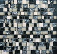 black mosaic tiles marble and black glass blend mosaic tile black and silver mosaic tiles uk