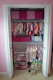 Simple Bedroom with Baby Nursery Closet Organizers, White Wire Closet  Storage Basket Shelves, and