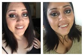 left right after i finished my makeup right 2 hours after wearing this younique touch