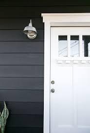 black house and door in benjamin moore satin oxford white sfgirlbybay