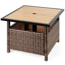 patio side table outdoor umbrella stand