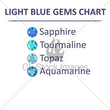 Aquamarine Color Chart Gems Blue Color Chart Gl Stock Images